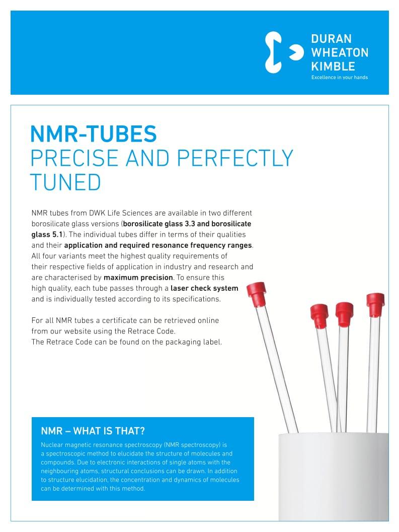 DURAN® NMR Tubes Flyer EN
