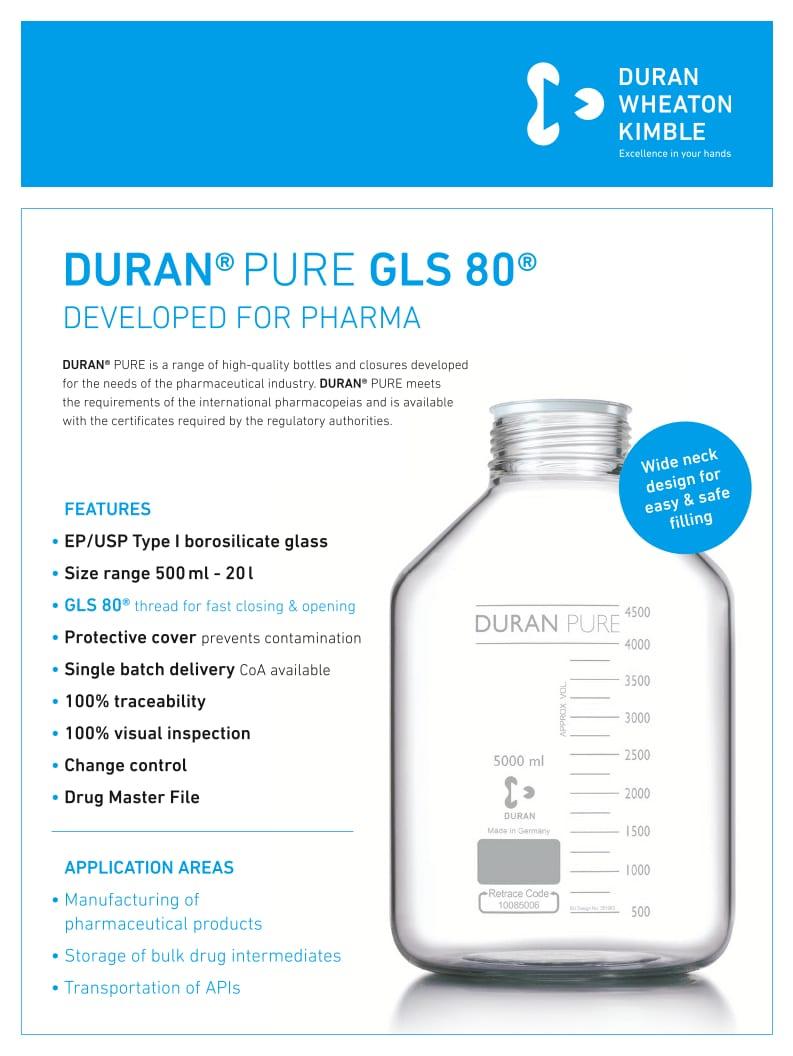 DURAN® PURE Flyer GLS80