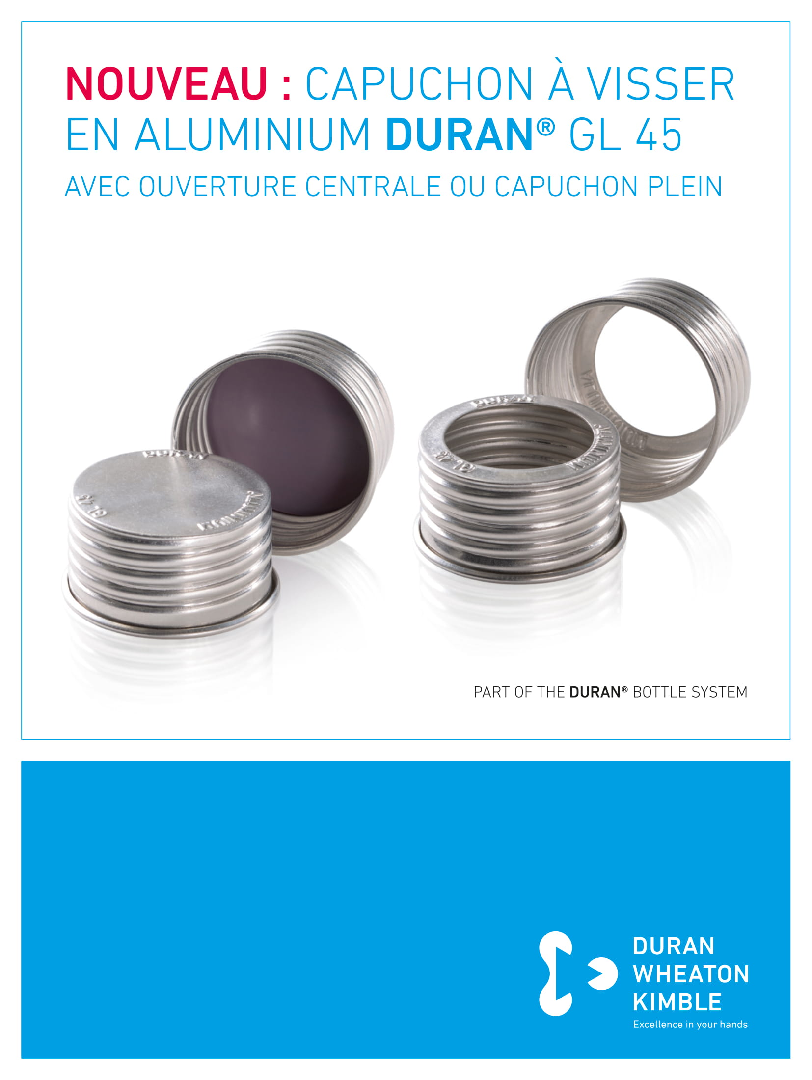 DURAN® Aluminium Screw Closure GL 45