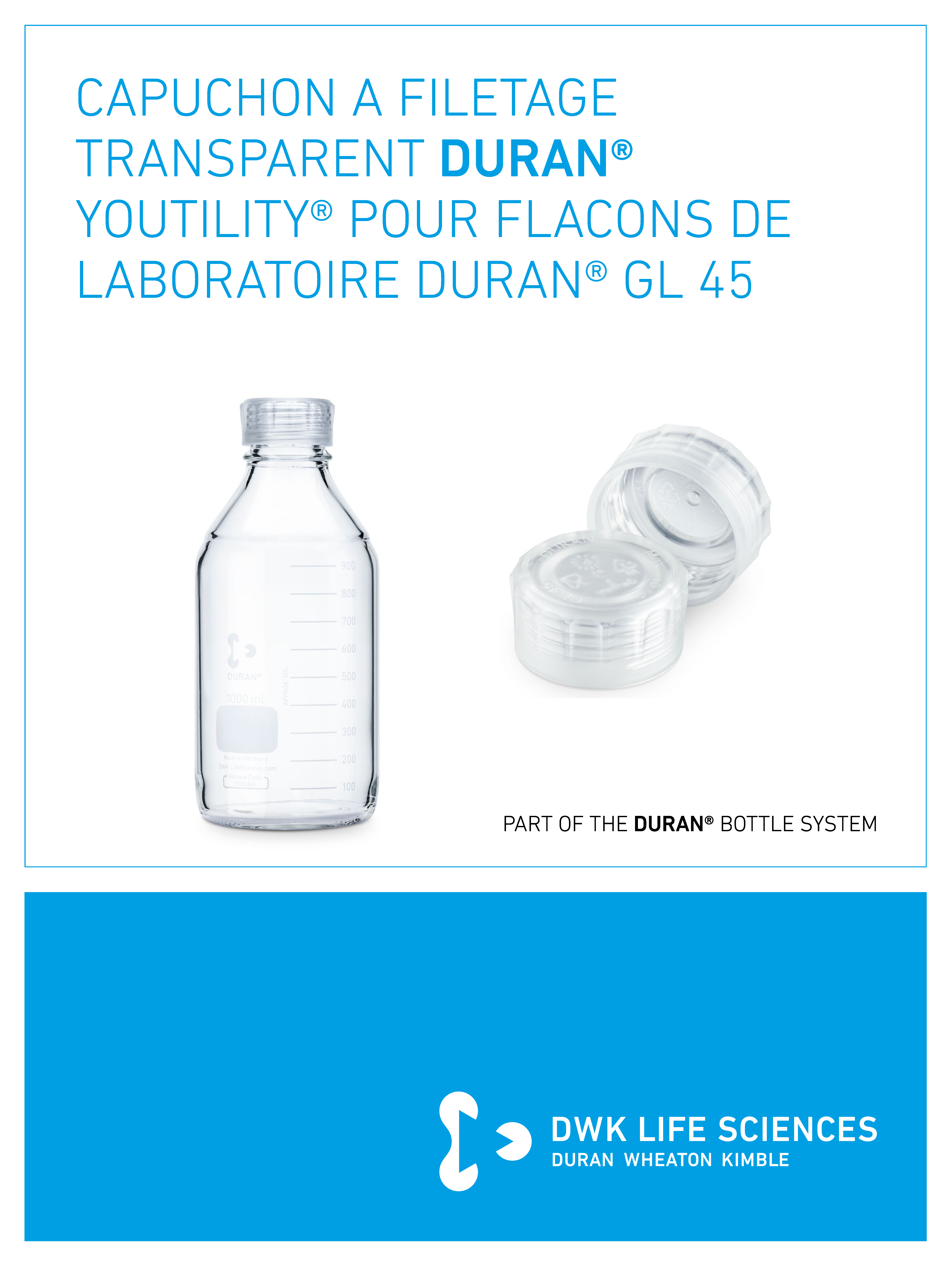 DURAN® YOUTILITY® Screw Cap Transparent