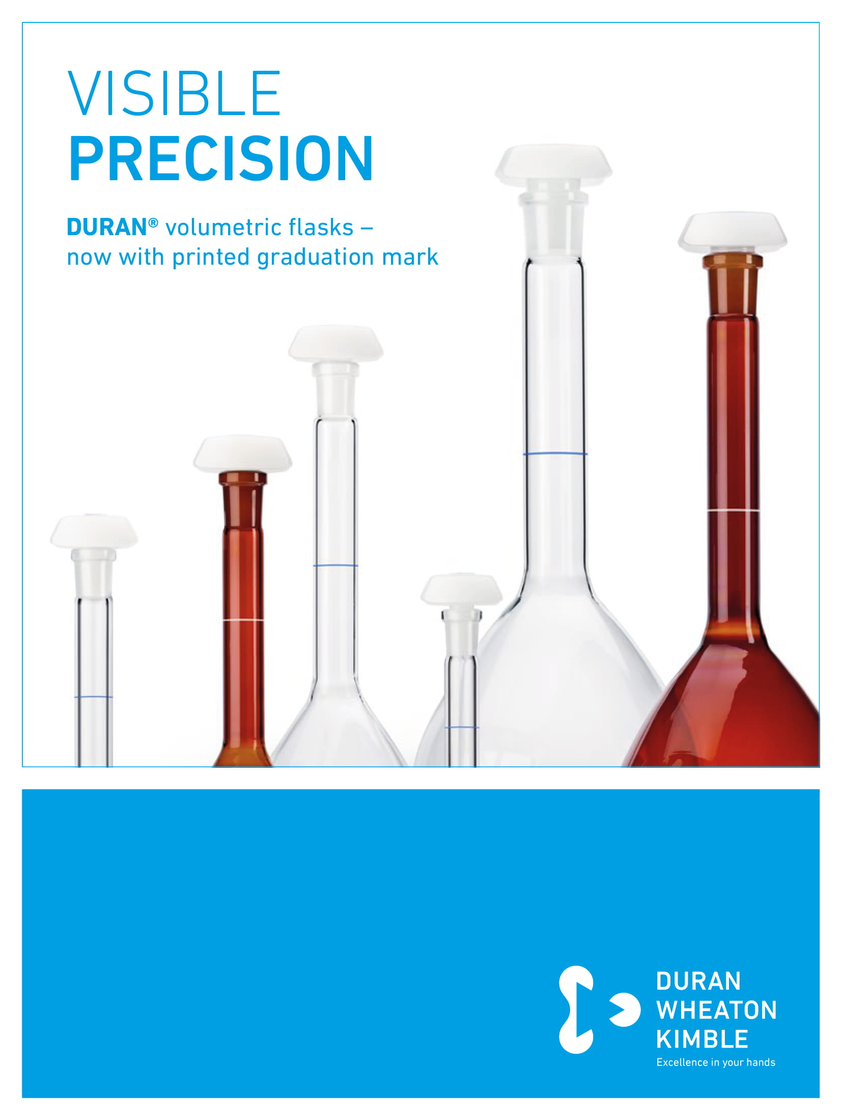 DURAN® Volumetric Flasks with Printed Graduation Mark