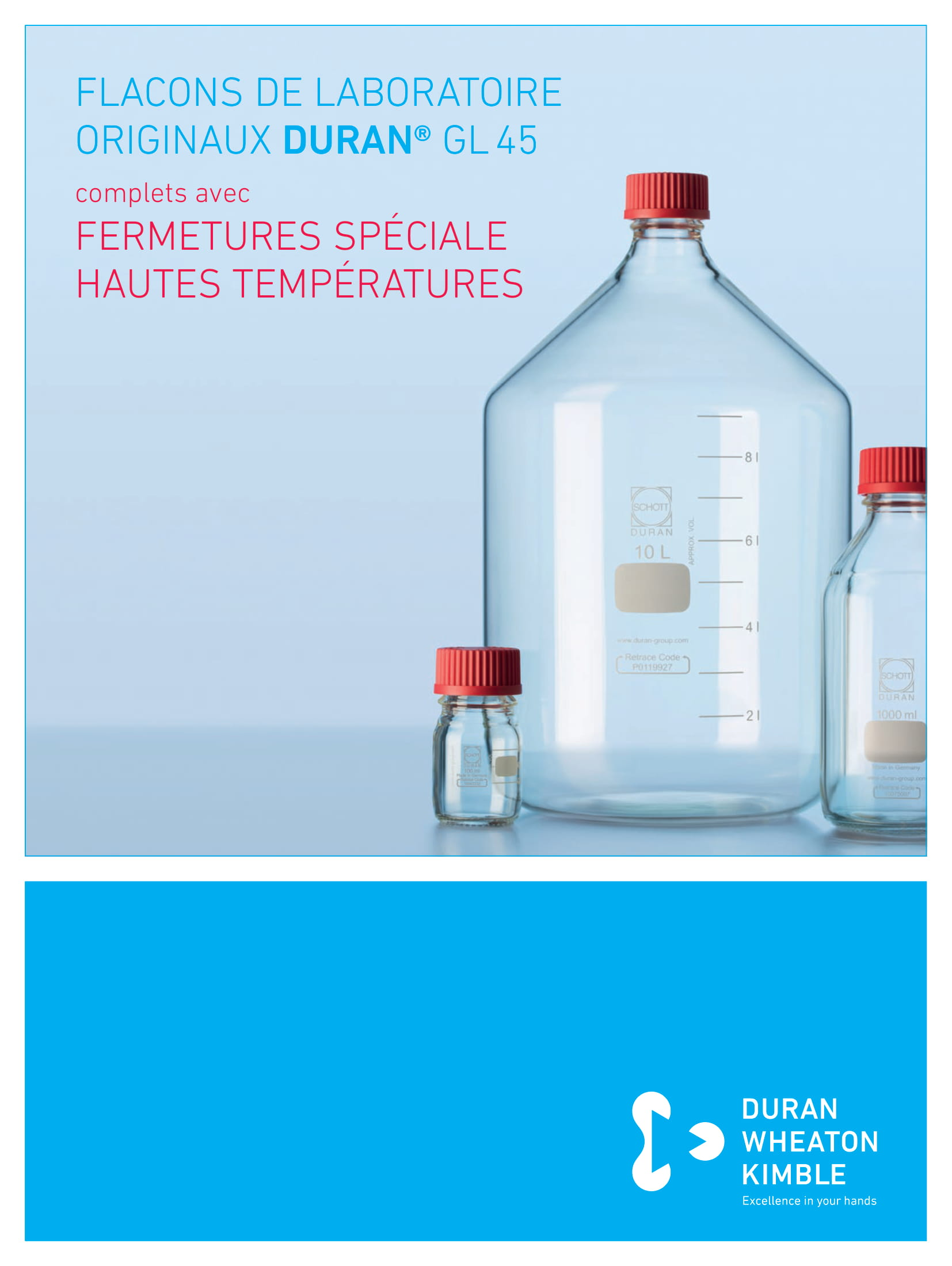 DURAN® Original GL 45 Lab Bottles with High Temperature Closures