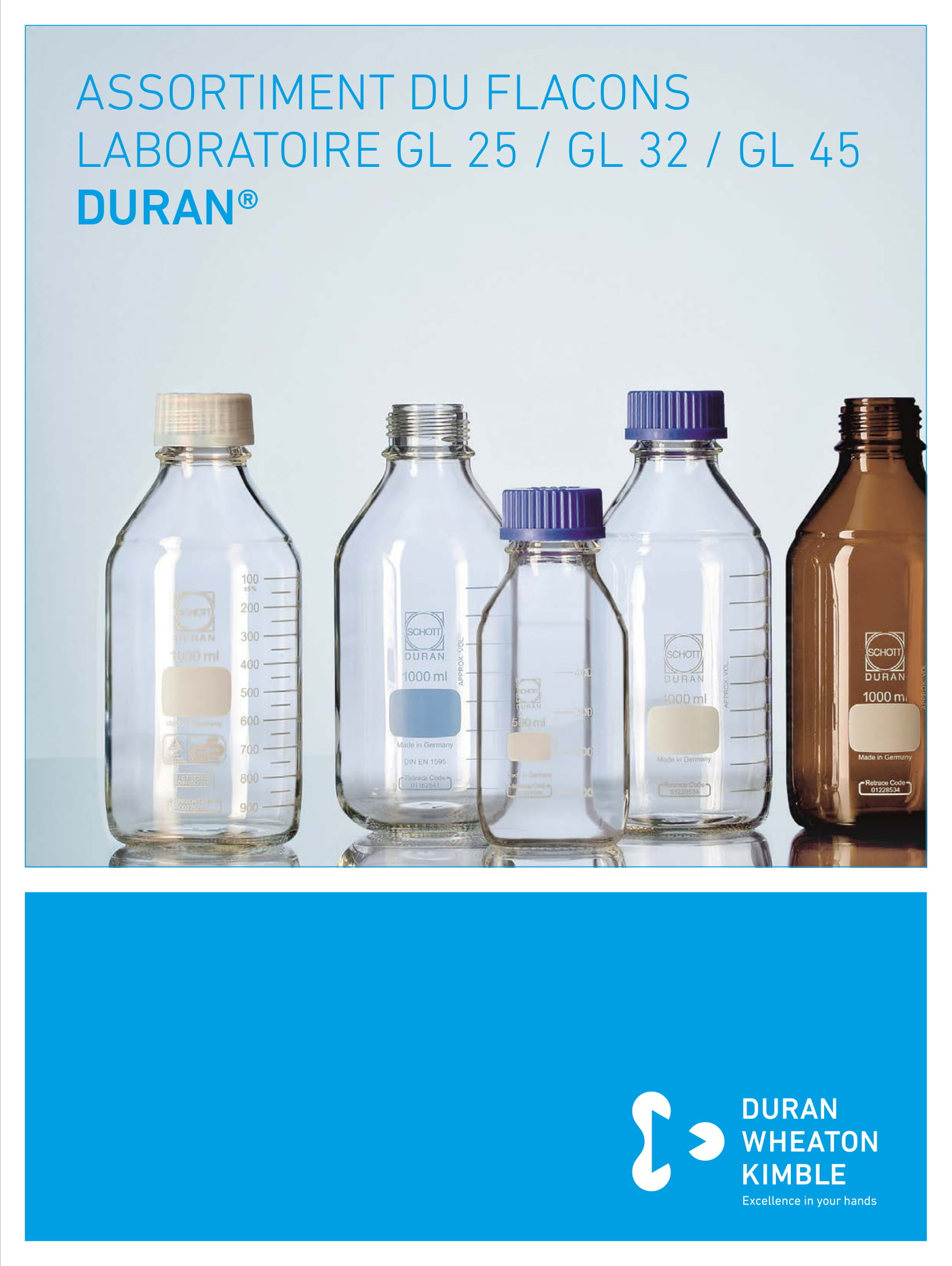 DURAN® Range of GL 25 / GL 32 / GL 45 Bottles