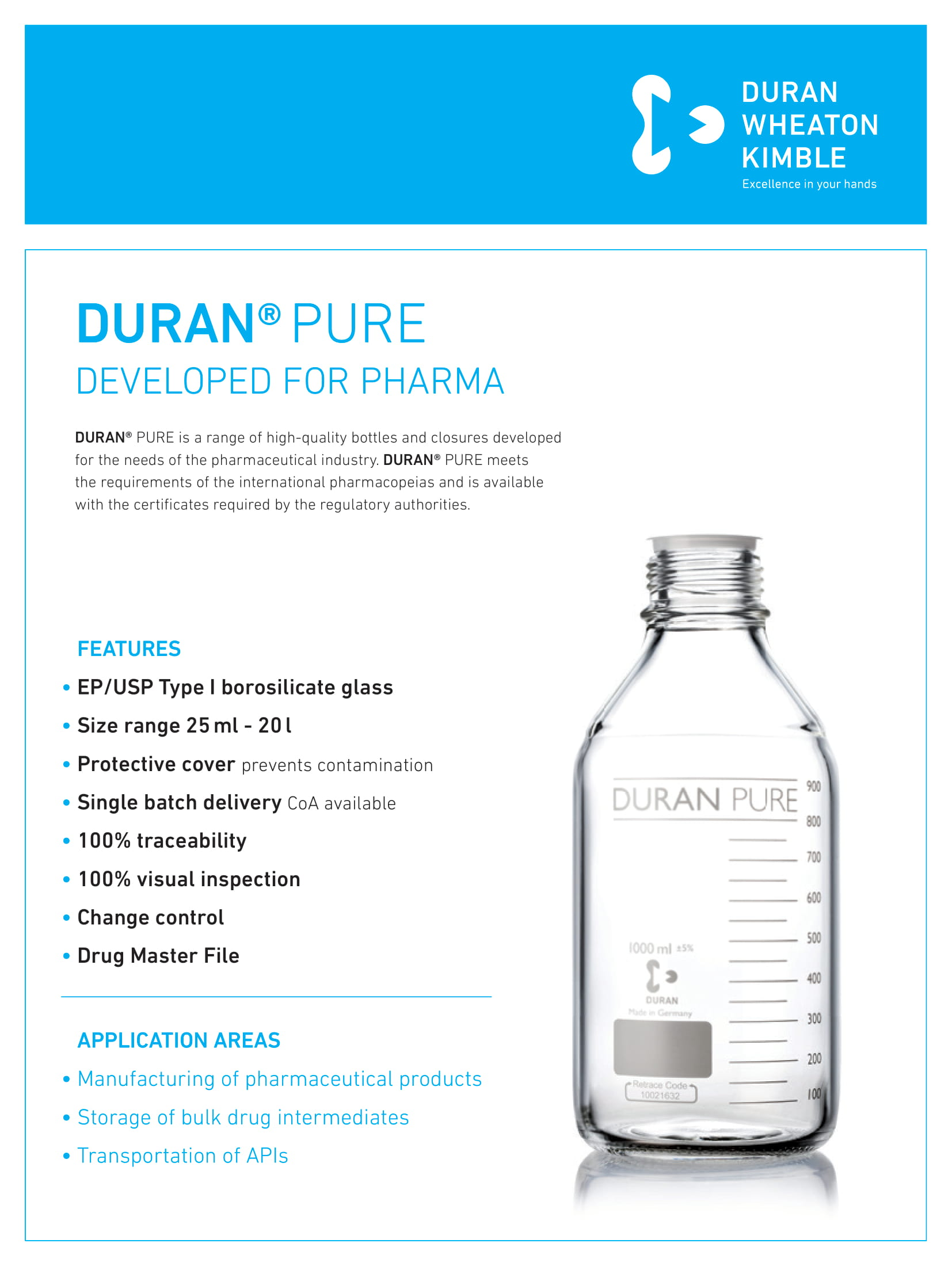 DURAN® PURE GL 45 - Developed for Pharma