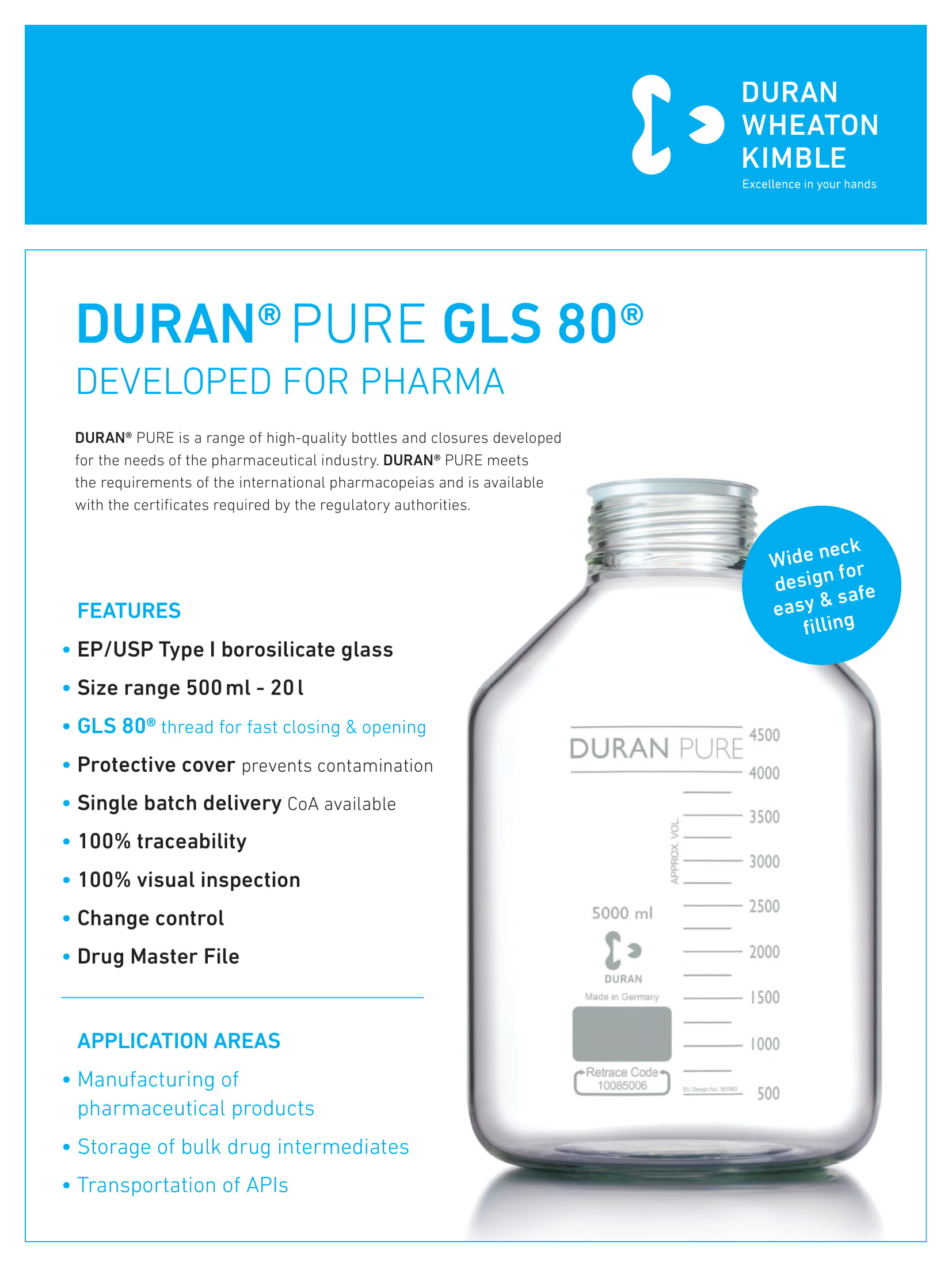 DURAN® PURE GLS 80® - Developed for Pharma