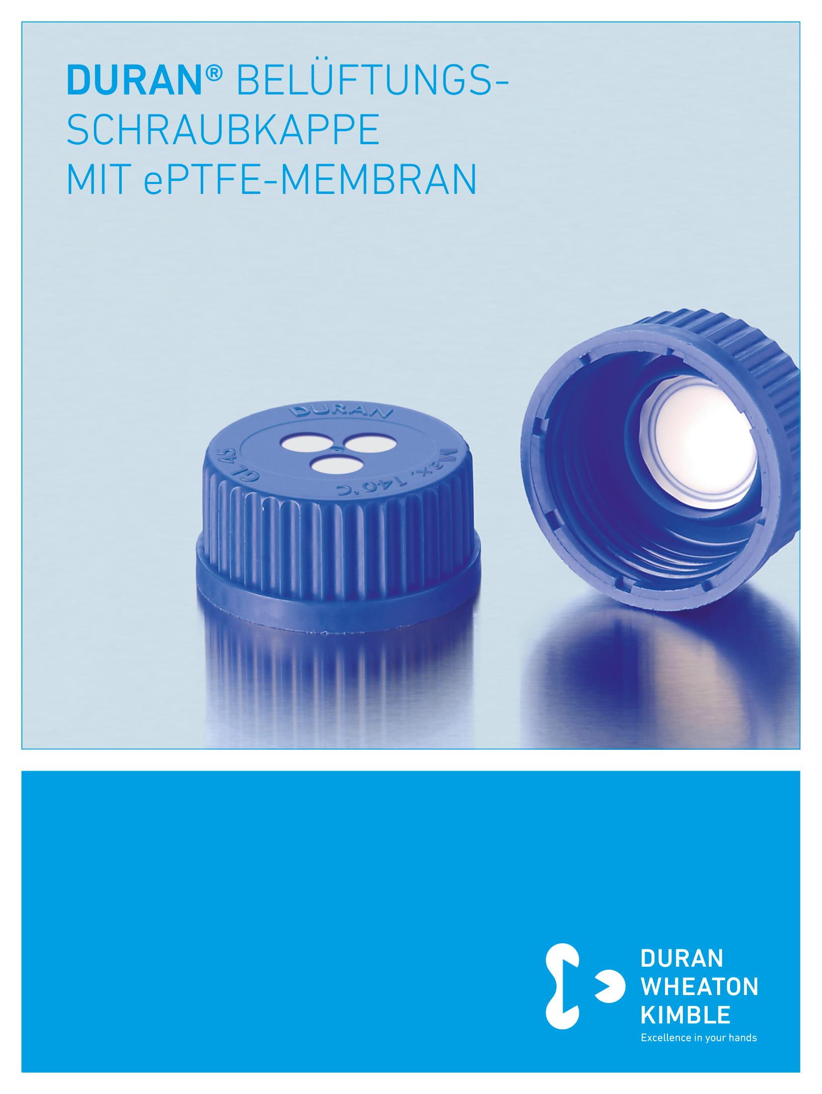 DURAN® Sterile Venting Membrane Screw Caps