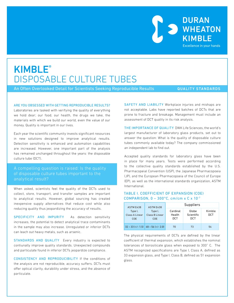 KIMBLE® DCT Whitepaper