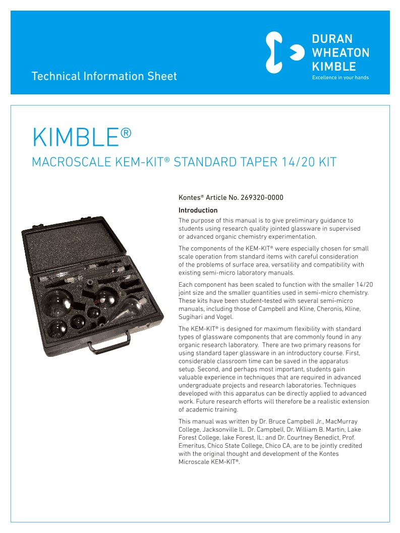 KIMBLE® KEM KIT
