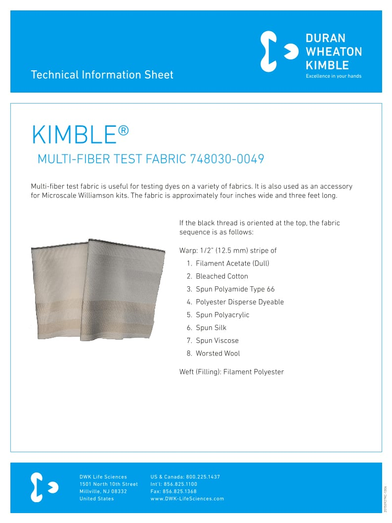 KIMBLE® Multi-Fiber Fabric