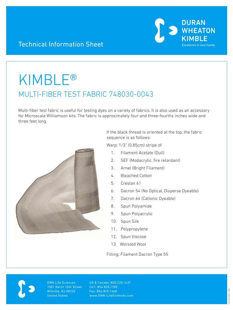 KIMBLE® Multi-Fiber Fabric(1)