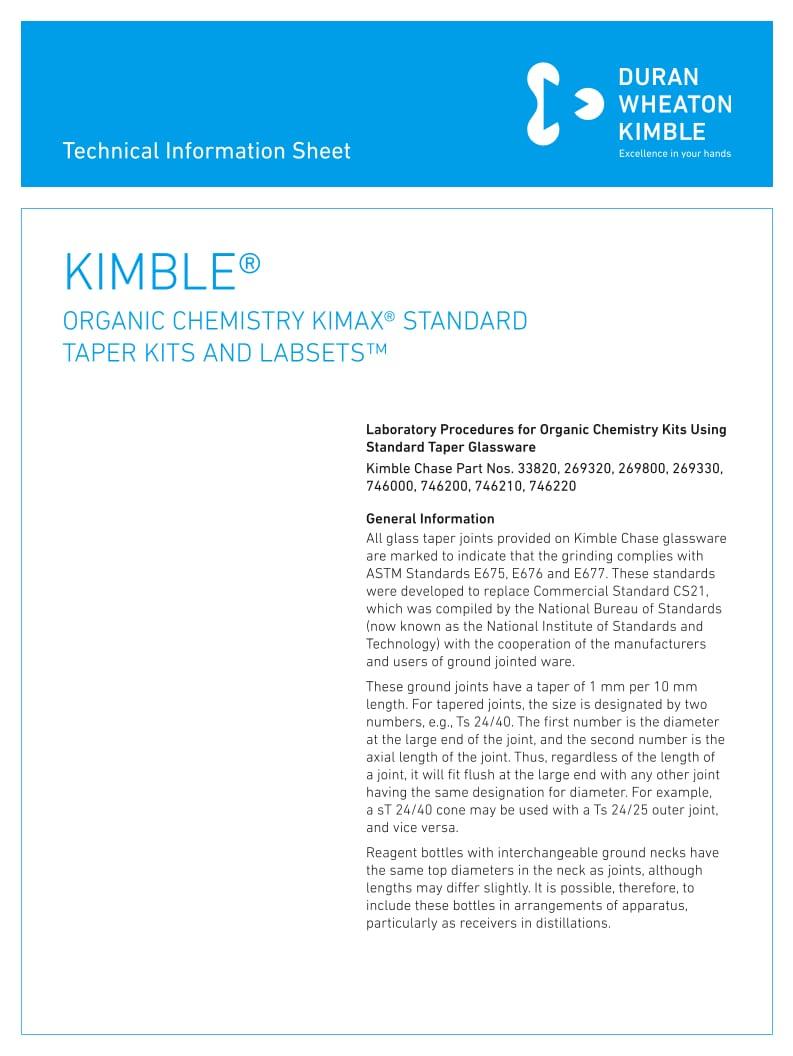 KIMBLE® Organic Chemistry Kit