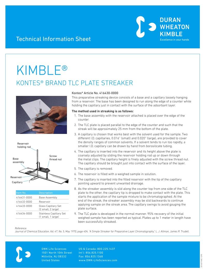 KIMBLE® TLC Plate Streaker
