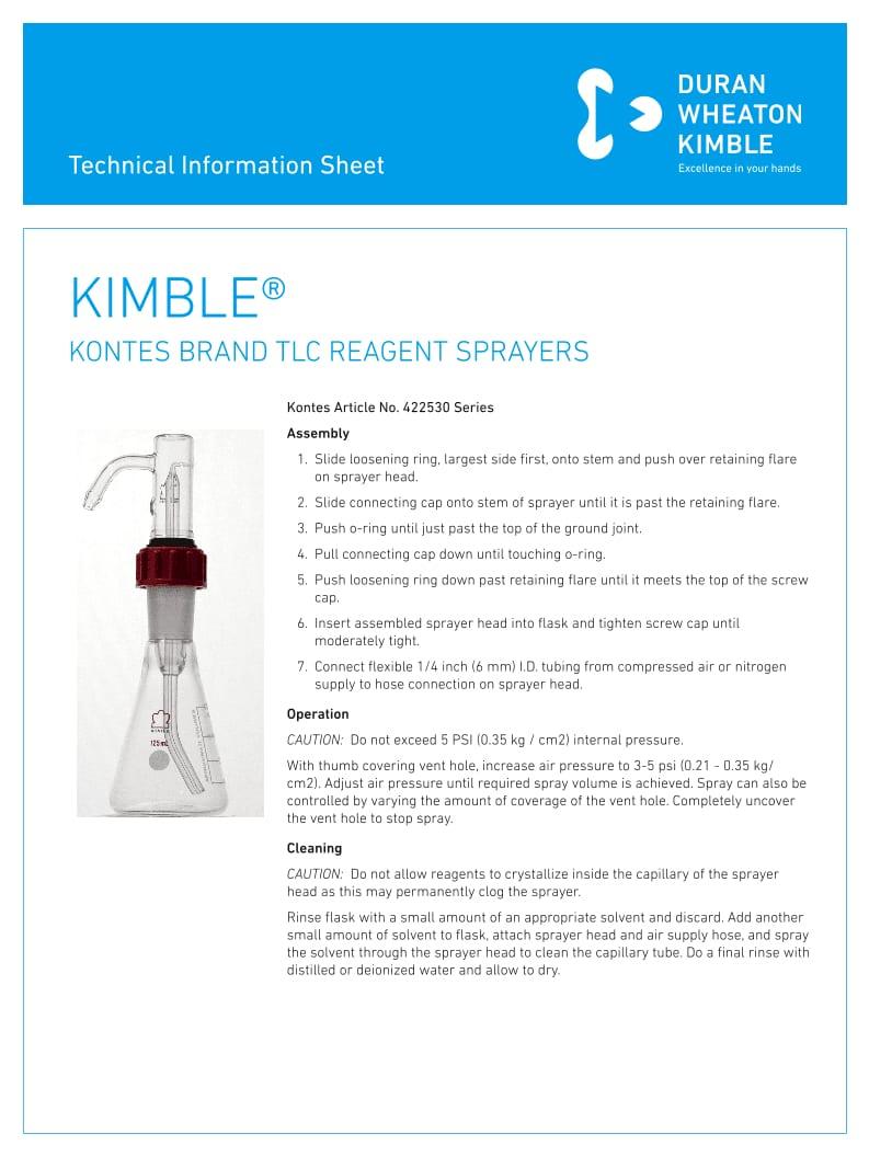 KIMBLE® TLC Reagent Sprayers