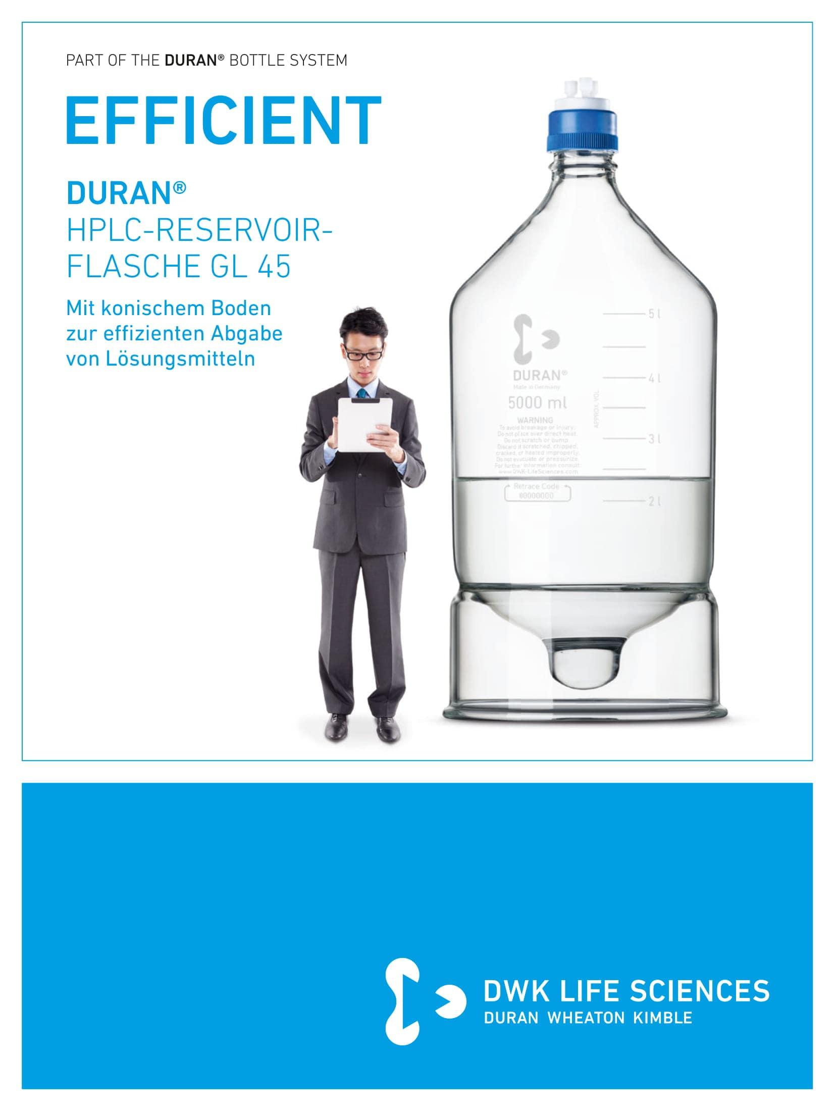 DURAN® HPLC Reservoir Bottle GL 45 German
