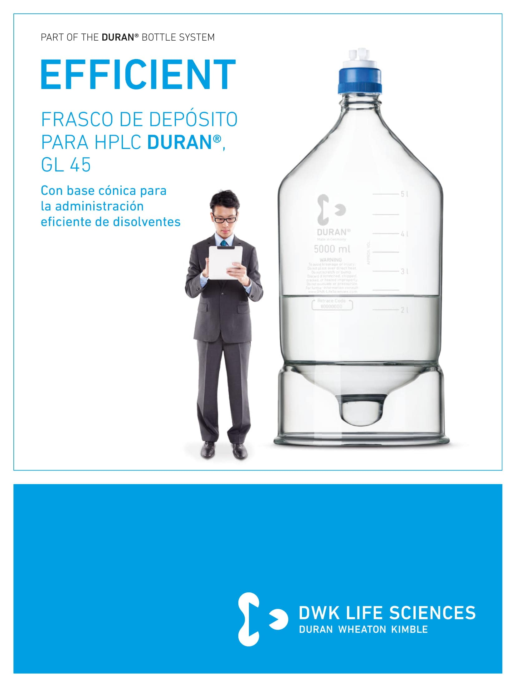 DURAN® HPLC Reservoir Bottle GL 45 Spanish