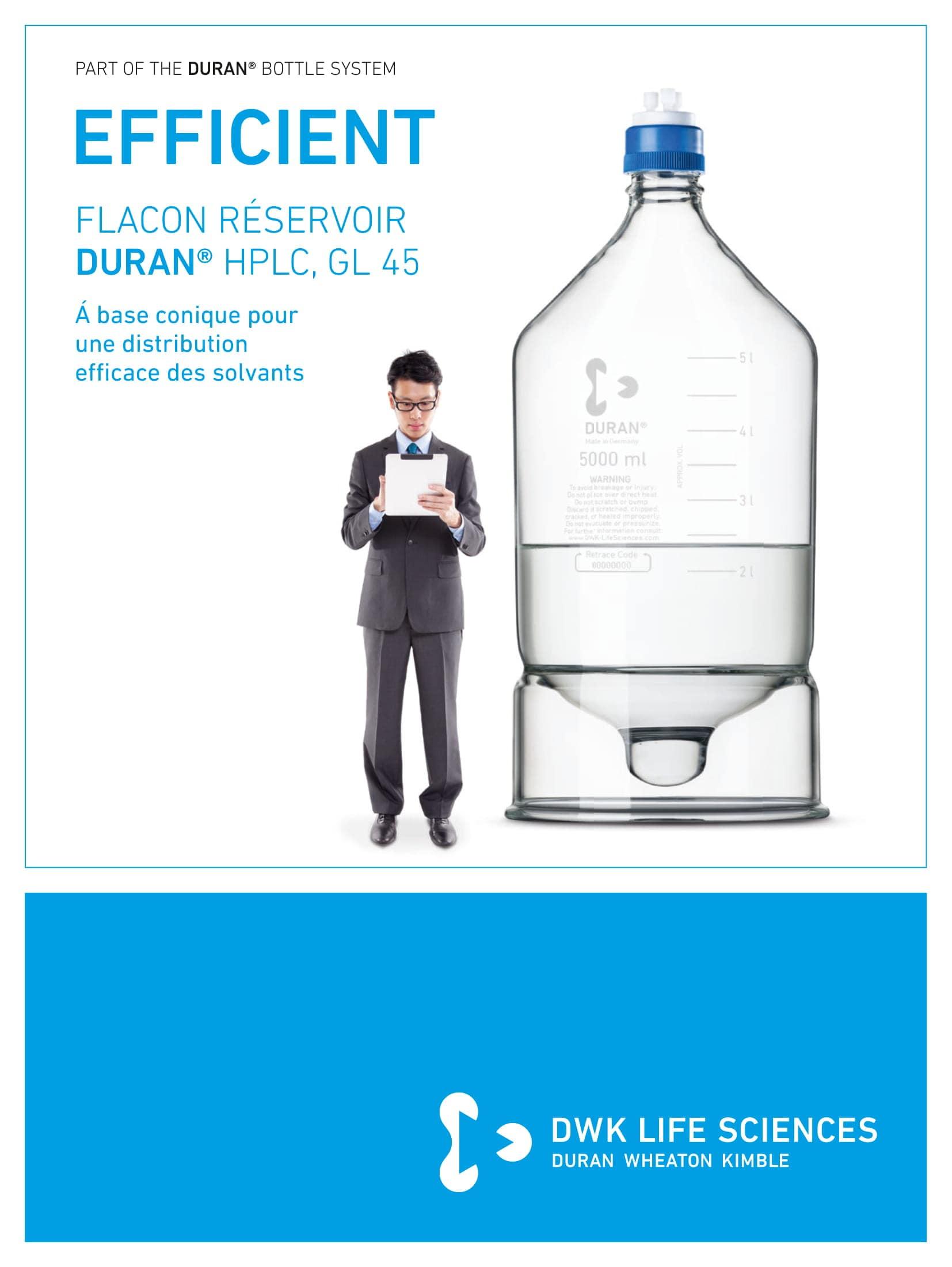 DURAN® HPLC Reservoir Bottle GL 45 French