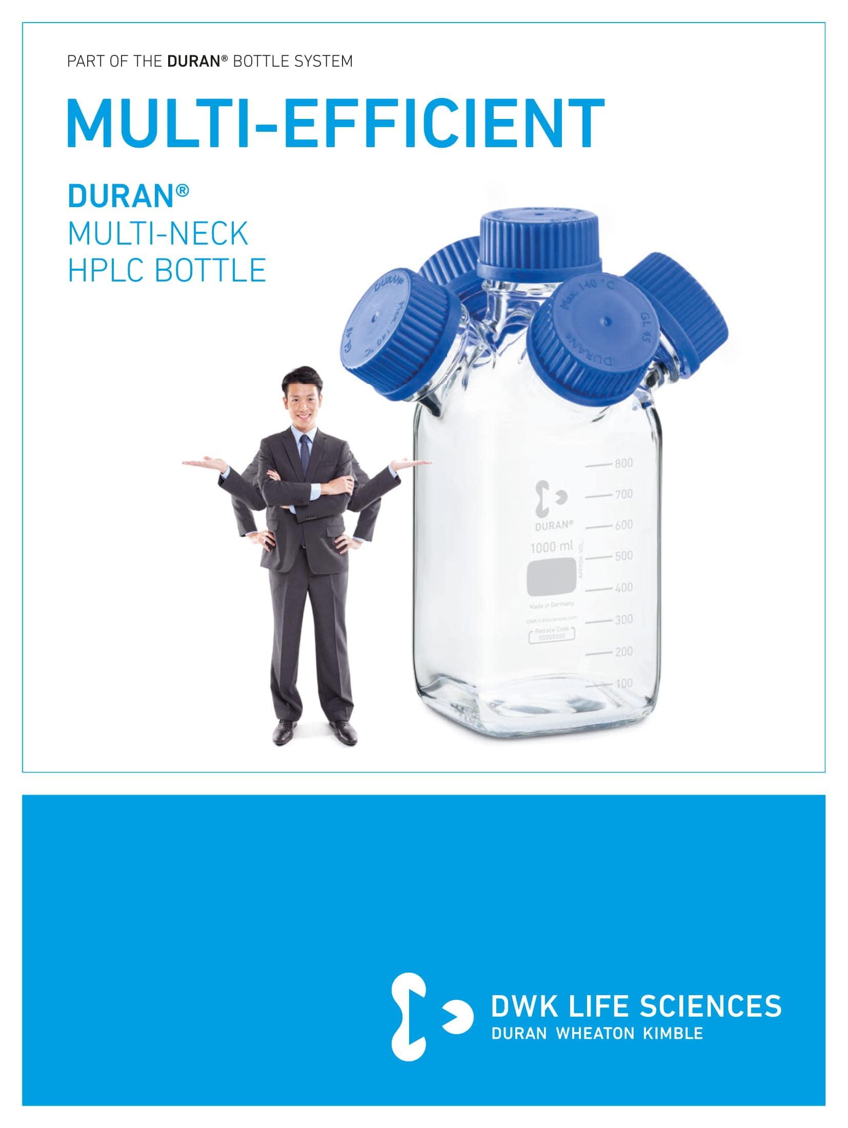DURAN® Multi-Neck HPLC Bottles English