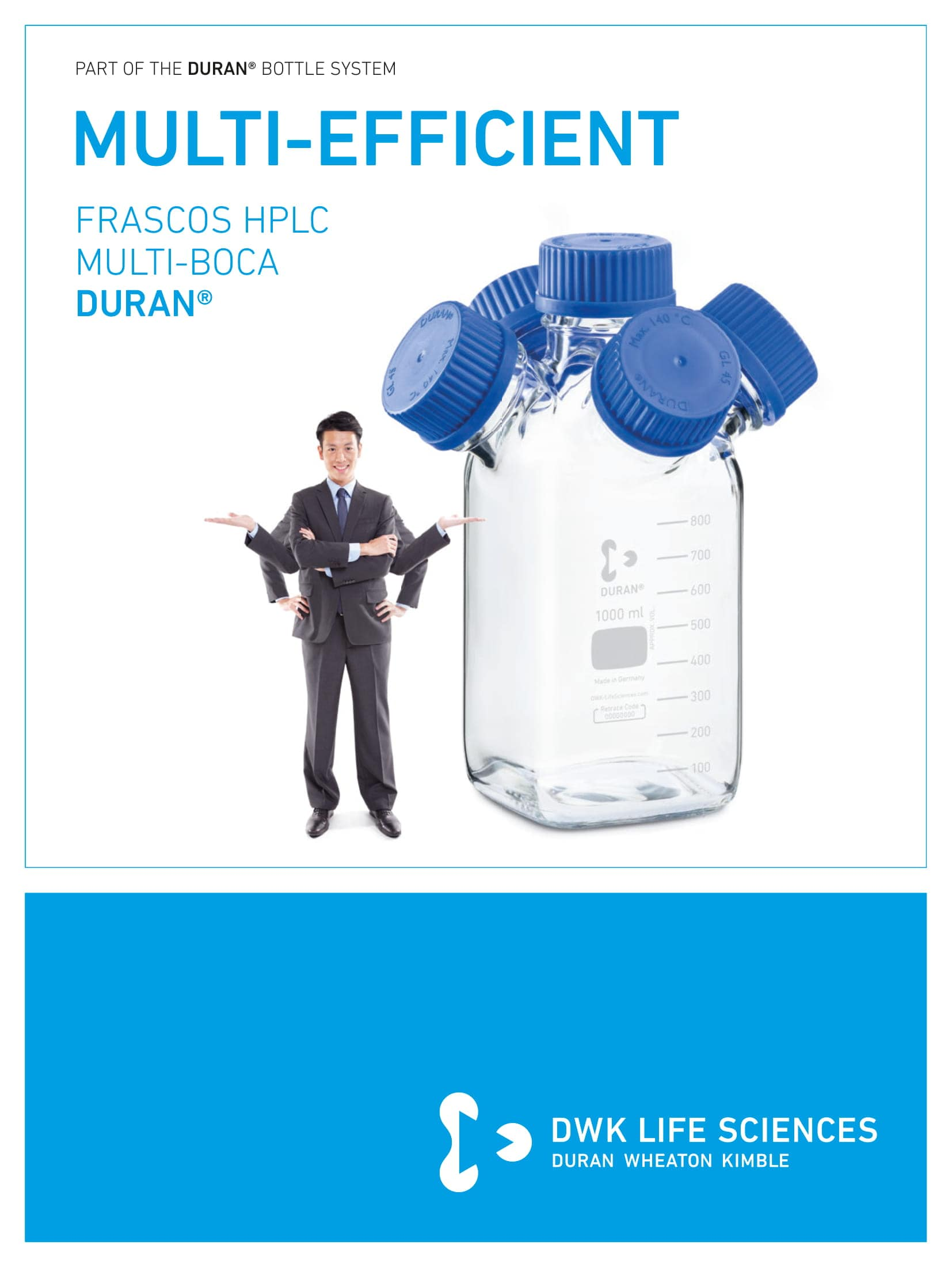 DURAN® Multi-Neck HPLC Bottles Spanish