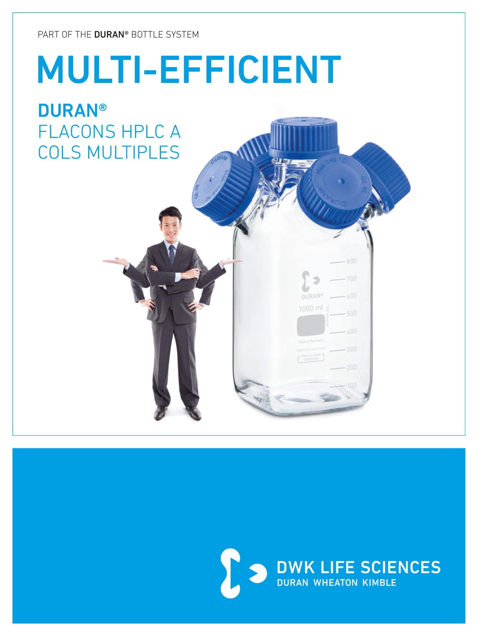 DURAN® Multi-Neck HPLC Bottles French