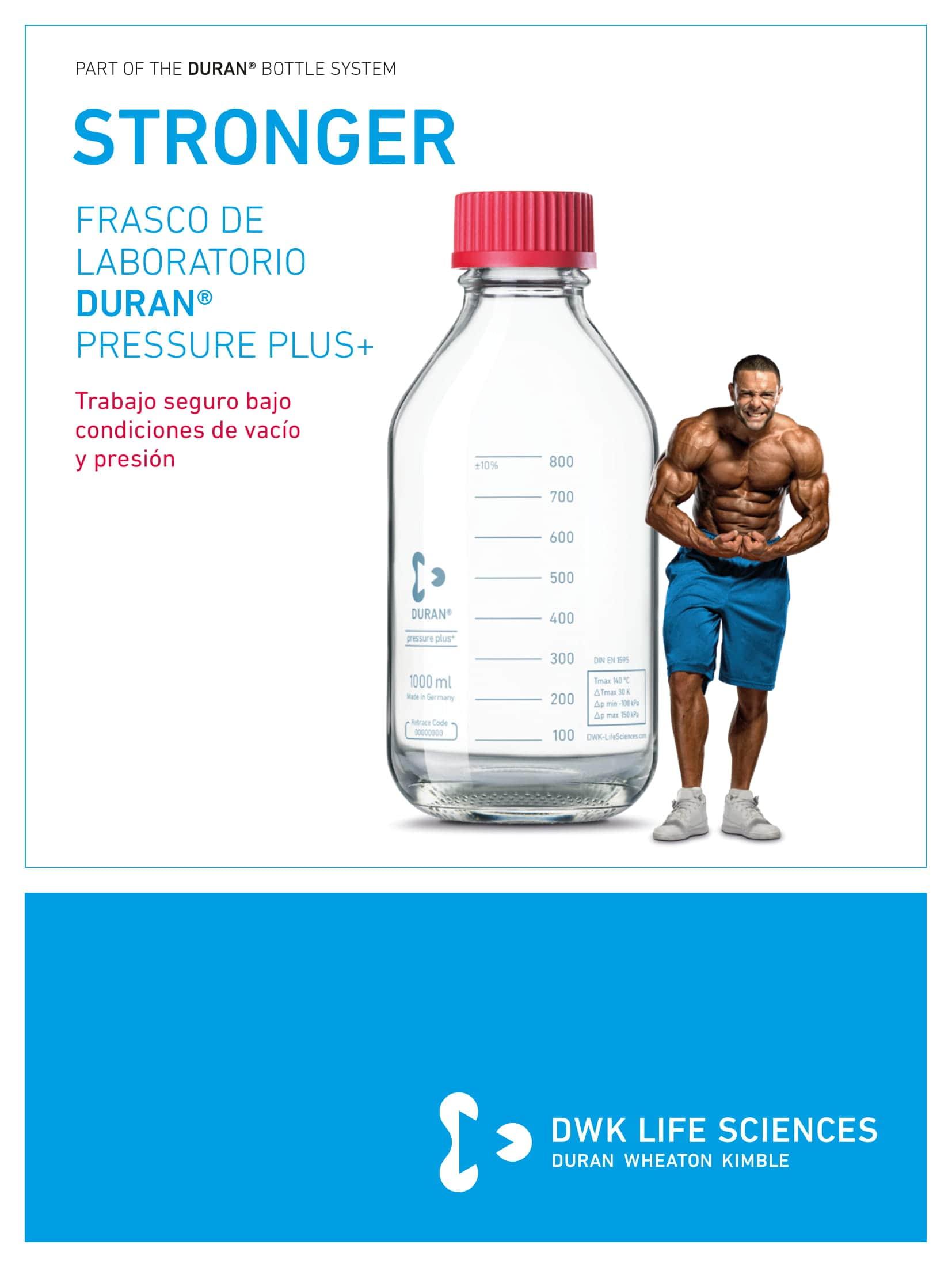 DURAN® Laboratory Bottle Pressure Plus+ GL 45 Spanish