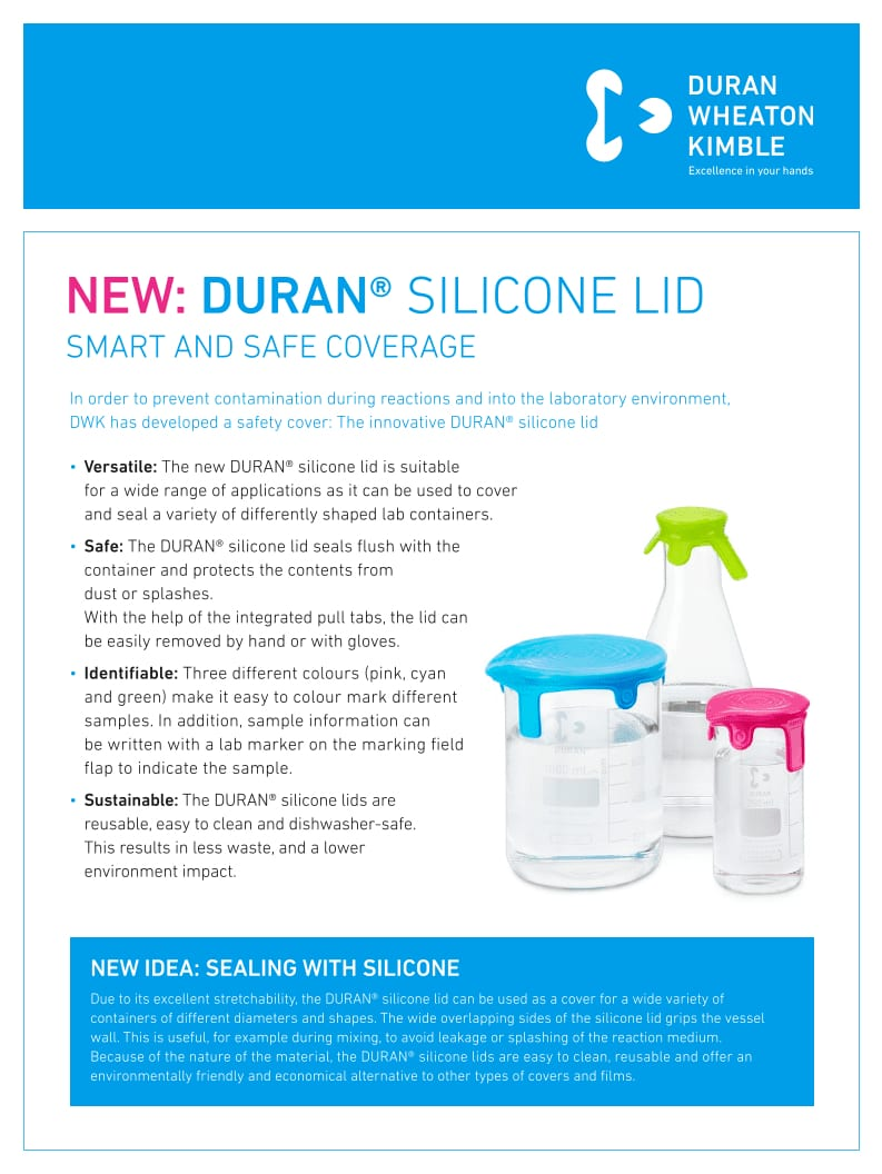 DWK DURAN Silikondeckel Flyer EN LOW