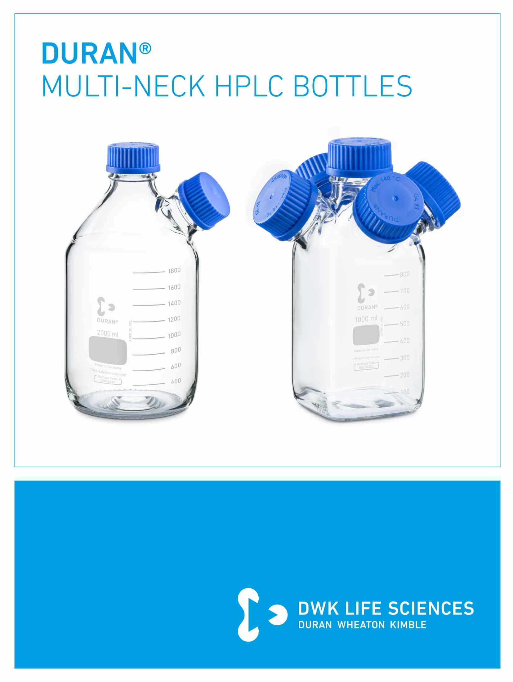 DURAN® Multi-Neck HPLC Bottles Flyer EN