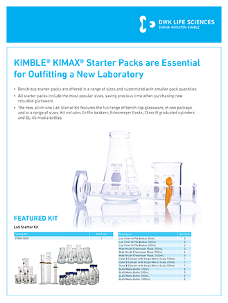 KIMAX Starter Kits-Packs Flyer