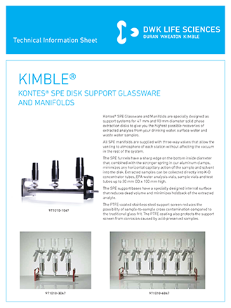 KIMBLE® SPE Glassware and Manifolds