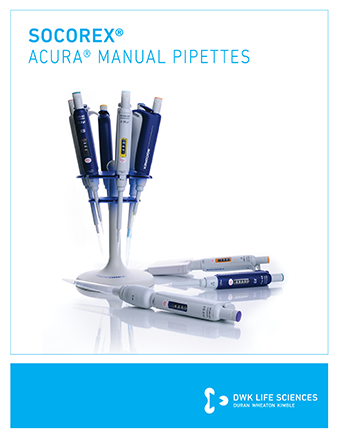 Socorex Acura Manual Pipette Brochure