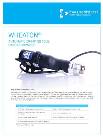 WHEATON® ACT Crimping Tool Flyer