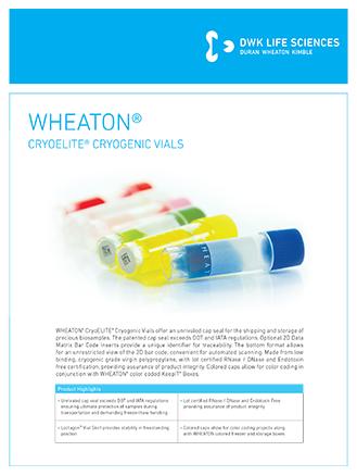 WHEATON® CryoELITE Vials Flyer