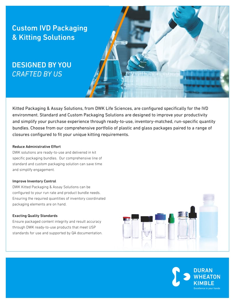 WHEATON® IVD Kitting Solutions