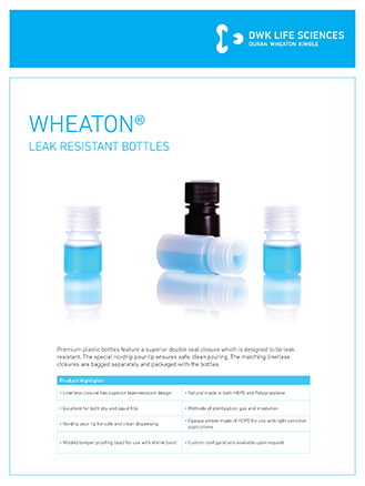WHEATON® Leak Resistant Bottles Wide Mouth Flyer
