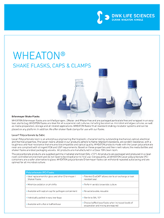 WHEATON® PC Flasks Lab Flyer