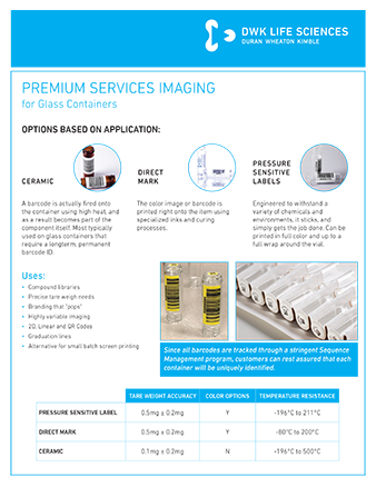 WHEATON® Premium services Imaging - Glass