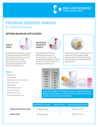 WHEATON® Premium Services Imaging - Plastic
