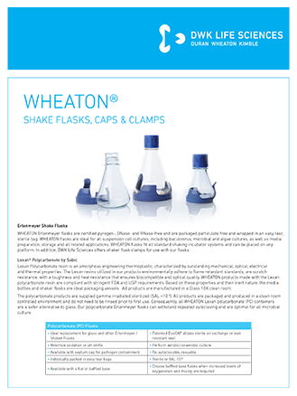 WHEATON® Erlenmeyer Shake Flasks Flyer