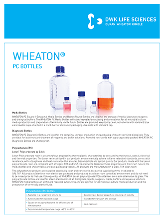WHEATON® PC Bottles Flyer