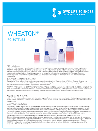 WHEATON® PETG-PC bottles Lab Flyer