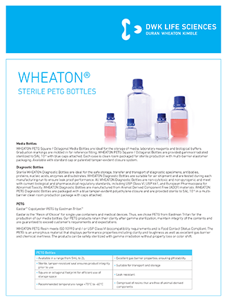 WHEATON® Sterile PETG Bottles Flyer